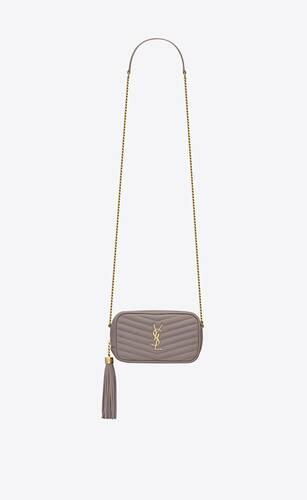 lou mini bag in matelassé grain de poudre embossed leather