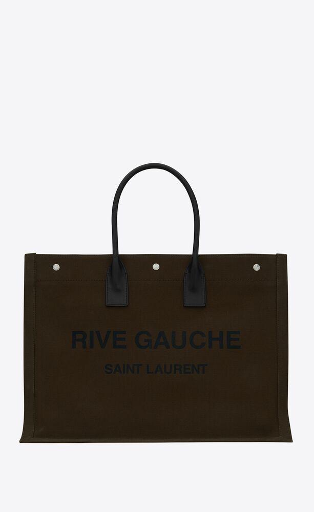 プリントキャンバス&レザーのラージトートバッグ 「リヴゴーシュ」