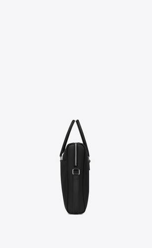 duffle briefcase in grain de poudre embossed leather