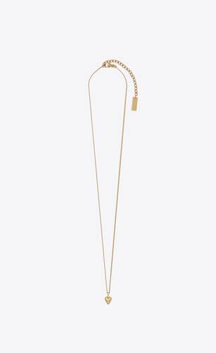 mini heart pendant necklace in metal