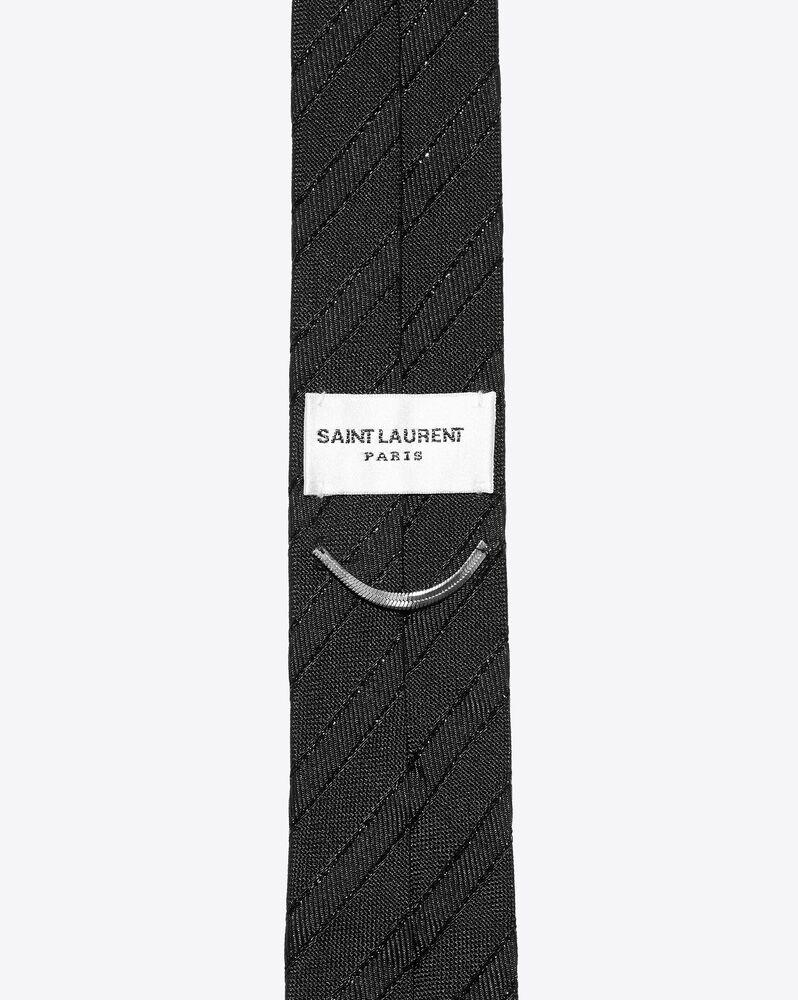 narrow tie in lamé silk