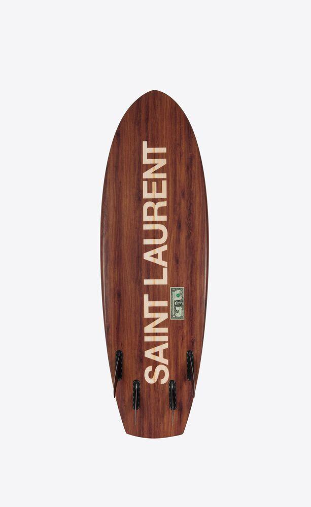 uwl saint laurent wood effect surfboard