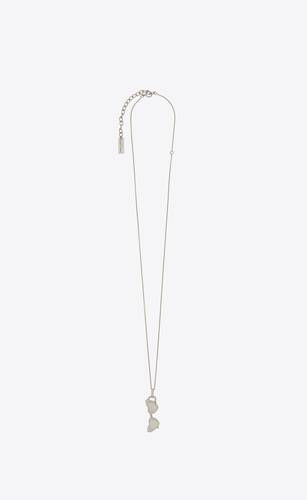 loulou sunglasses pendant necklace in silver