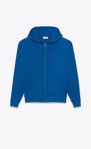 monogram zip-up hoodie