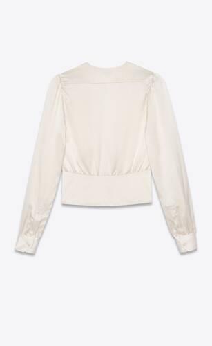 tea blouse in silk satin