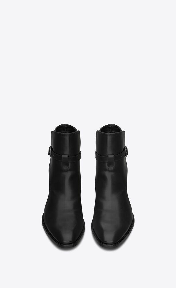 saint laurent wyatt 30 jodhpur stiefel mit reißverschluss aus schwarzem leder