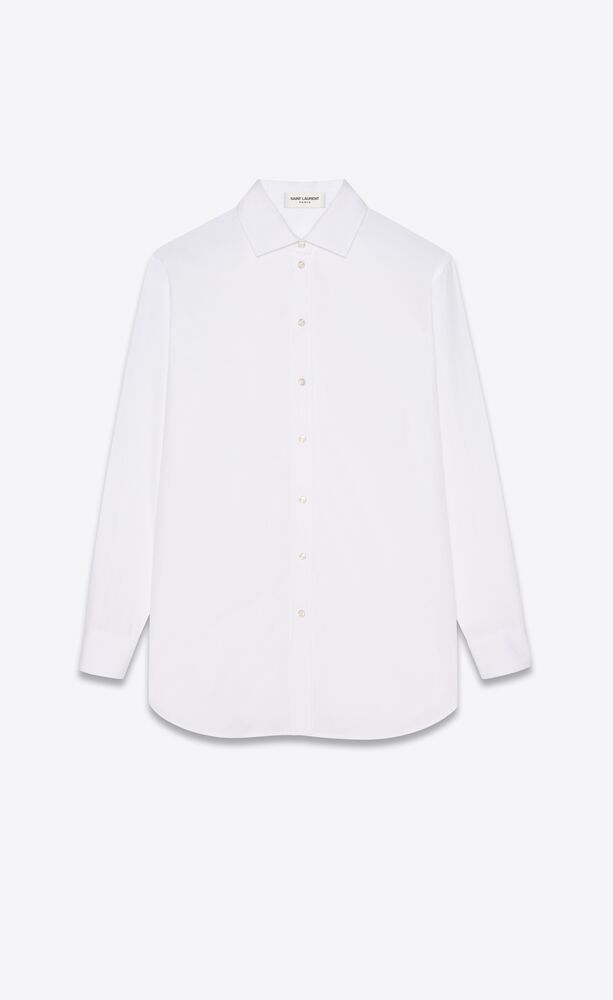 oversized shirt in cotton poplin