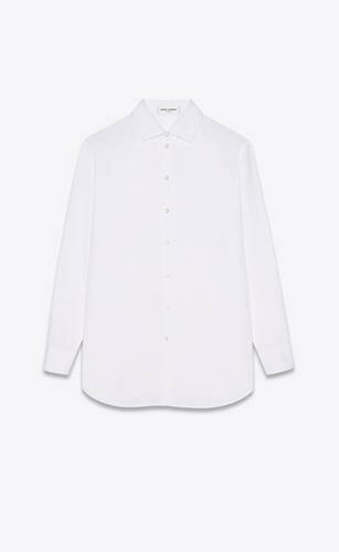 oversized shirt in cotton poplin