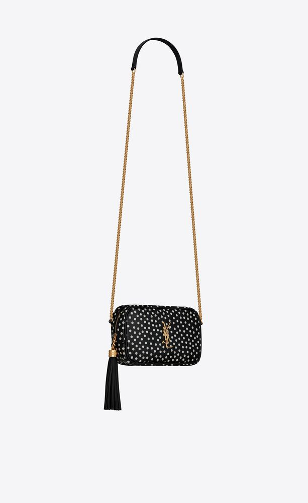 lou mini bag in polka dot leather