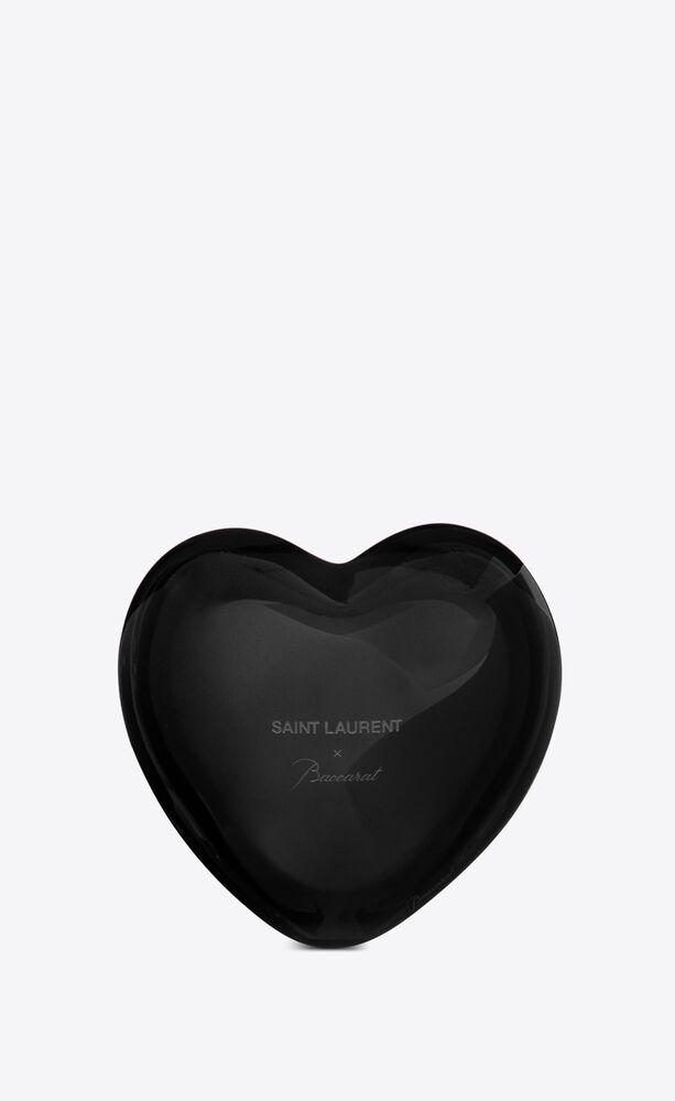 baccarat heart in black crystal