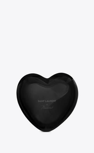 baccarat cœur en cristal noir