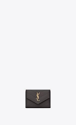 monogram tiny wallet in grain de poudre embossed leather