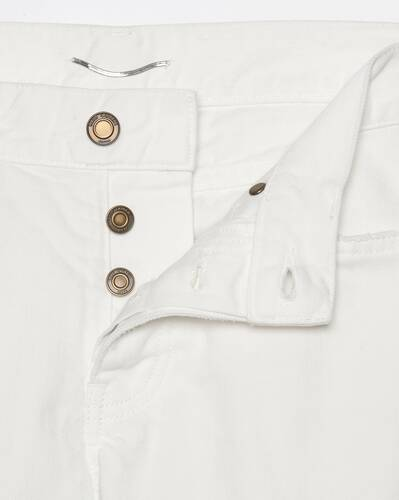 slim-fit jeans in white stonewashed denim
