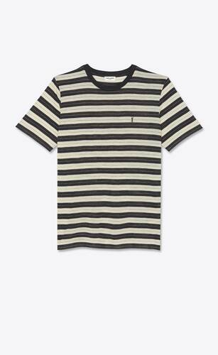 striped monogram t-shirt in wool jersey