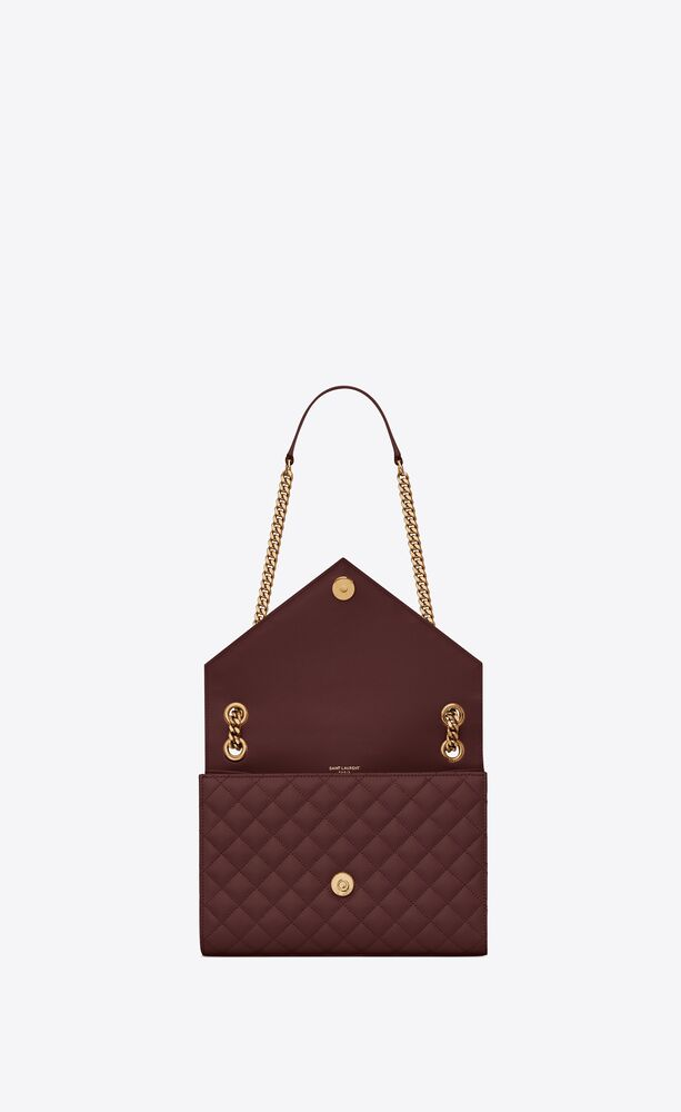 medium envelope bag in quilted and textured leather