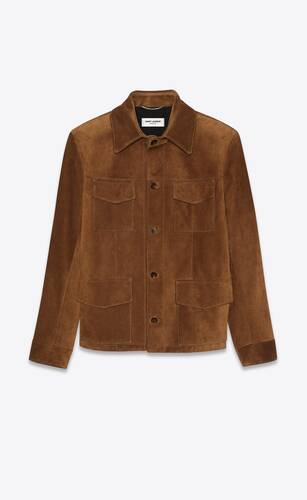 saharienne jacket in vintage suede