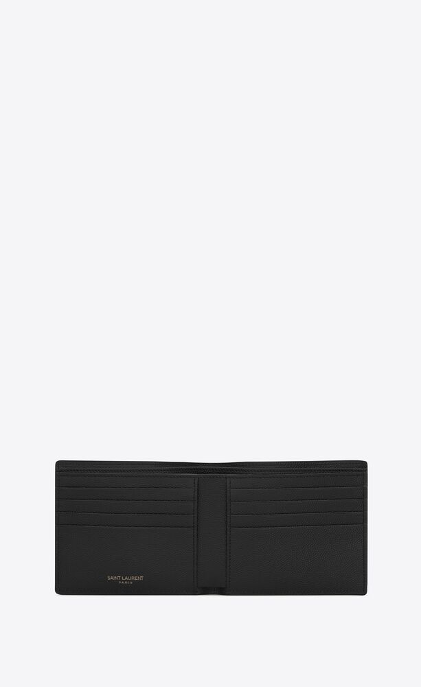 monogram east/west wallet in grain de poudre embossed leather