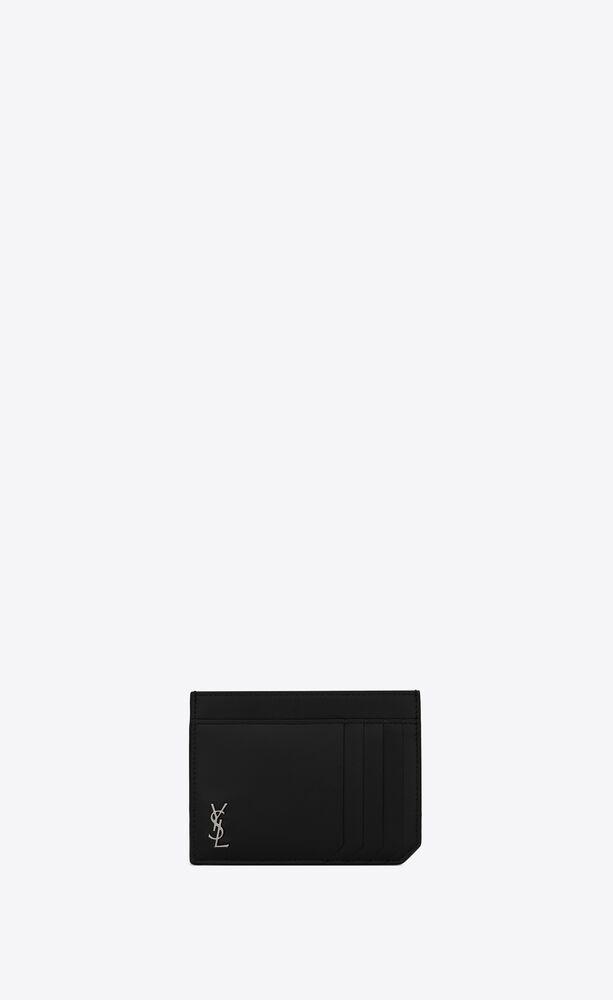매트 가죽 소재의 미니 모노그램 id 카드 케이스