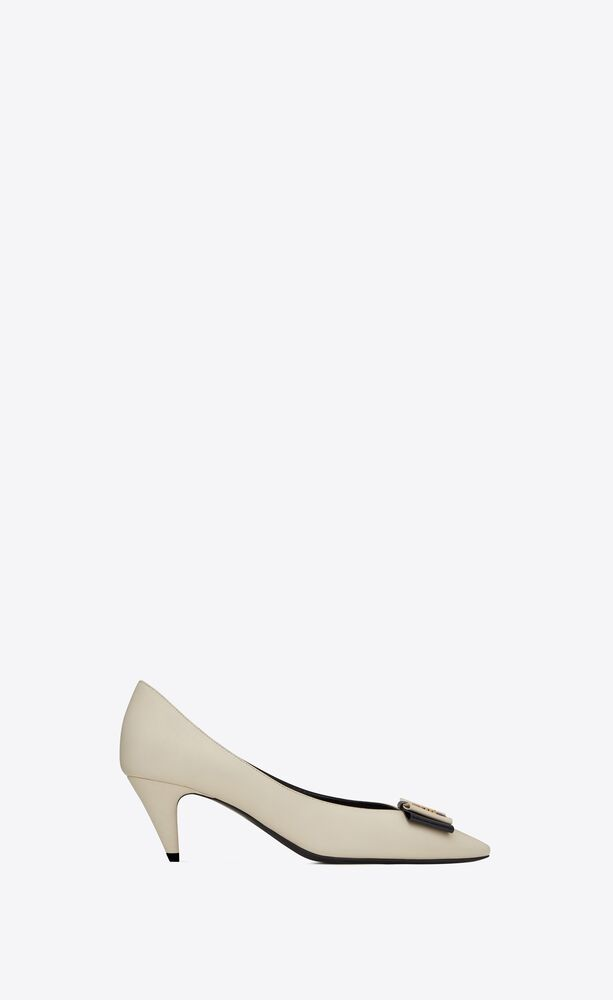 anaïs bow pumps in smooth leather