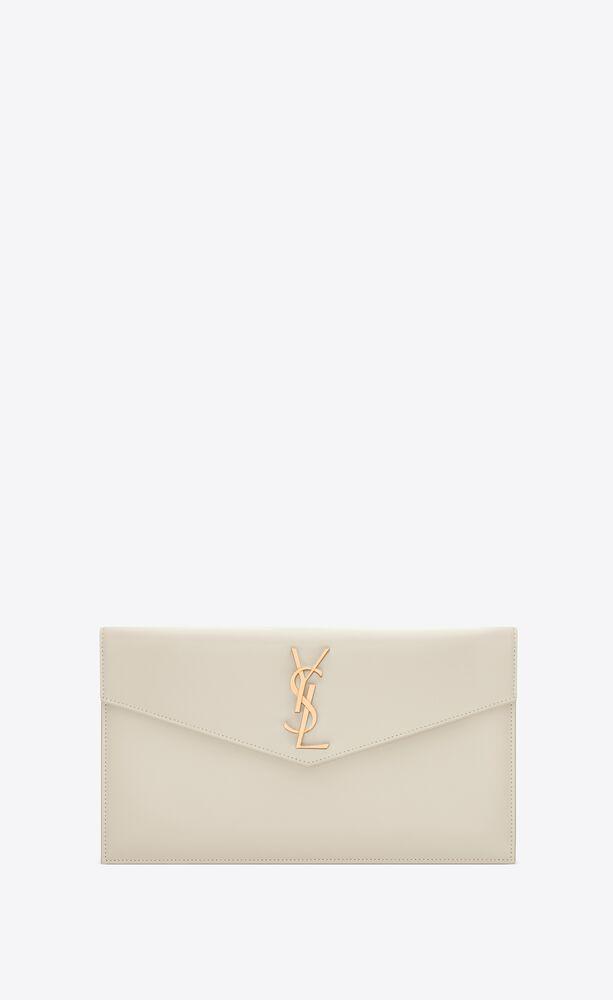 uptown pouch aus glänzendem leder