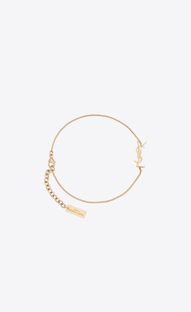 charm bracelet in gold brass