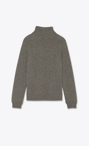 pull col roulé en laine