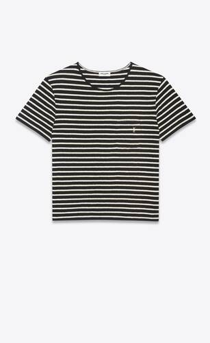 striped monogram t-shirt in jersey