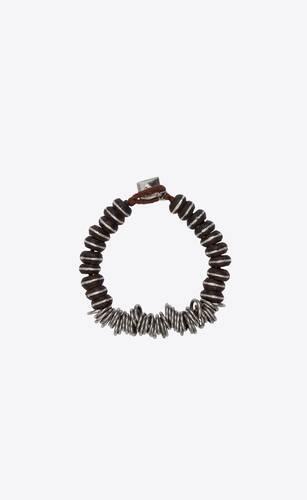 marrakech bead bracelet in wood and metal