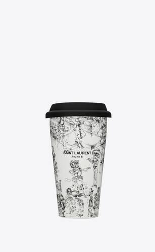 """""""día de los muertos"""" print coffee mug in ceramic"""