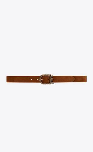 celtic belt in suede
