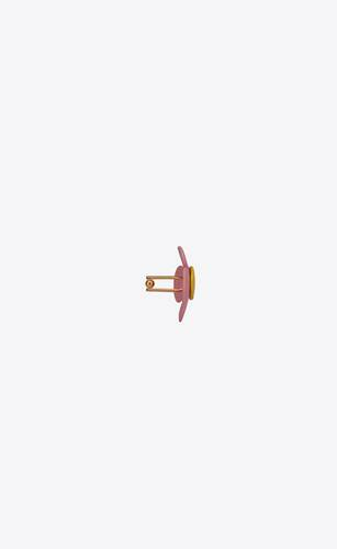 flower cufflinks in metal and lacquer