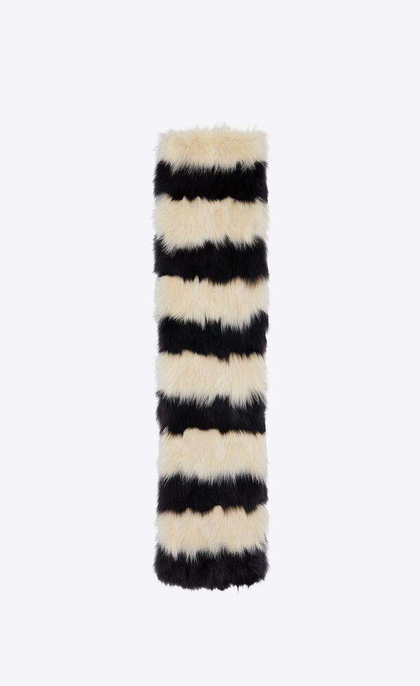 scarf in striped fur