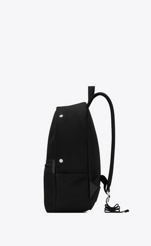 camp backpack in canvas and lambskin