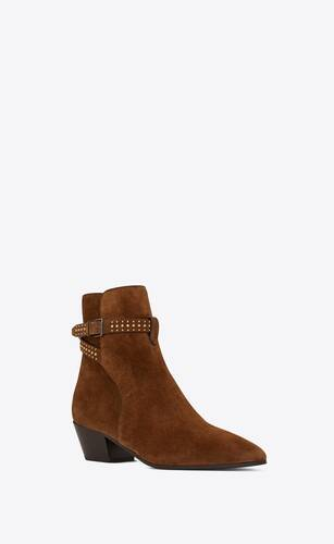 west jodhpur boots in suede with studs