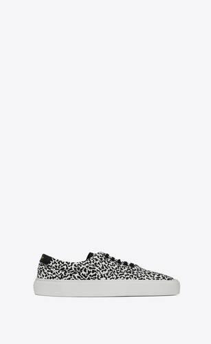 venice sneaker aus canvas mit glitzer-print