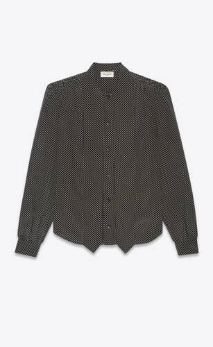 lavallière-neck blouse in silk crepe de chine