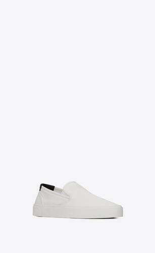 venice slip-on sneakers in canvas and leather