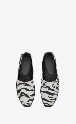 espadrilles in zebra-print canvas