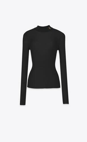 ribbed sweater in silk