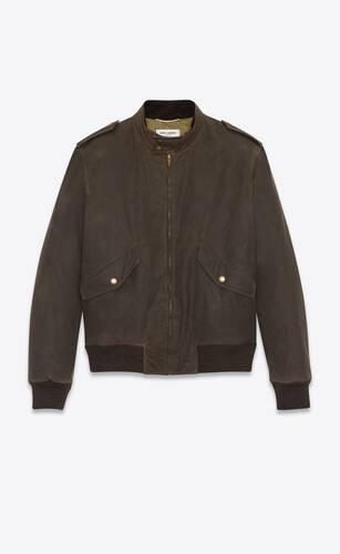 ワックスコットンキャンバスのボンバージャケット