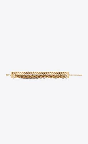 three-strand chain choker in metal