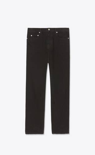 straight-fit jeans in dyed black denim