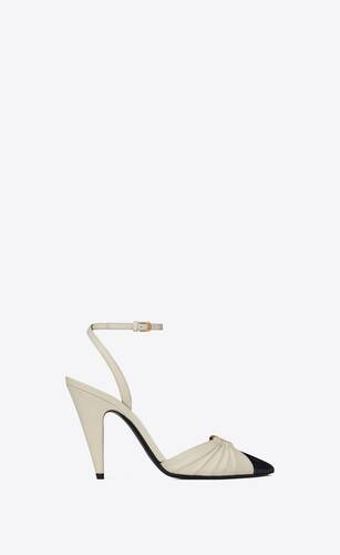 alma slingback pumps in smooth leather