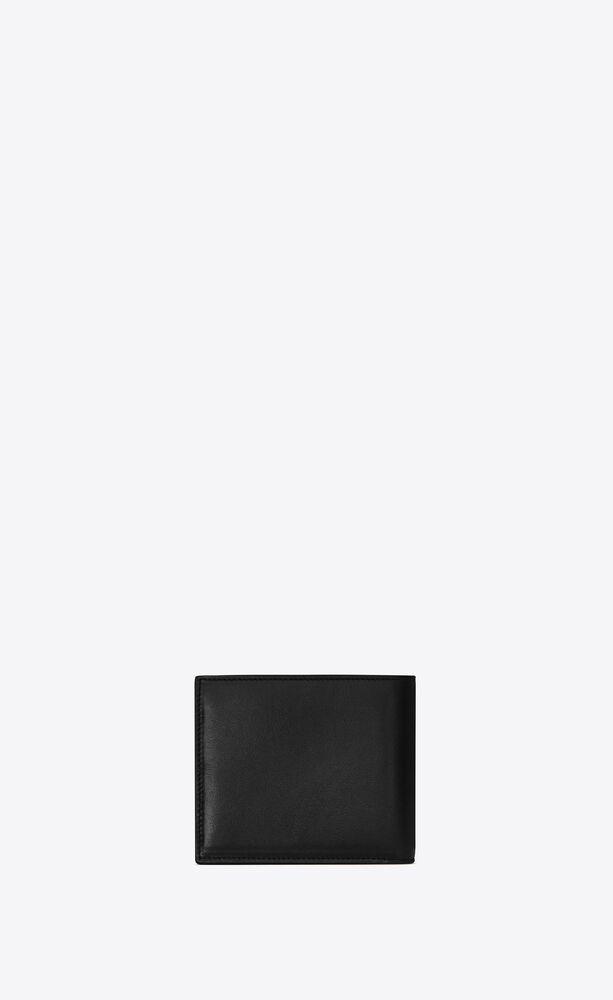 tiny monogram portefeuille east/west en cuir brillant
