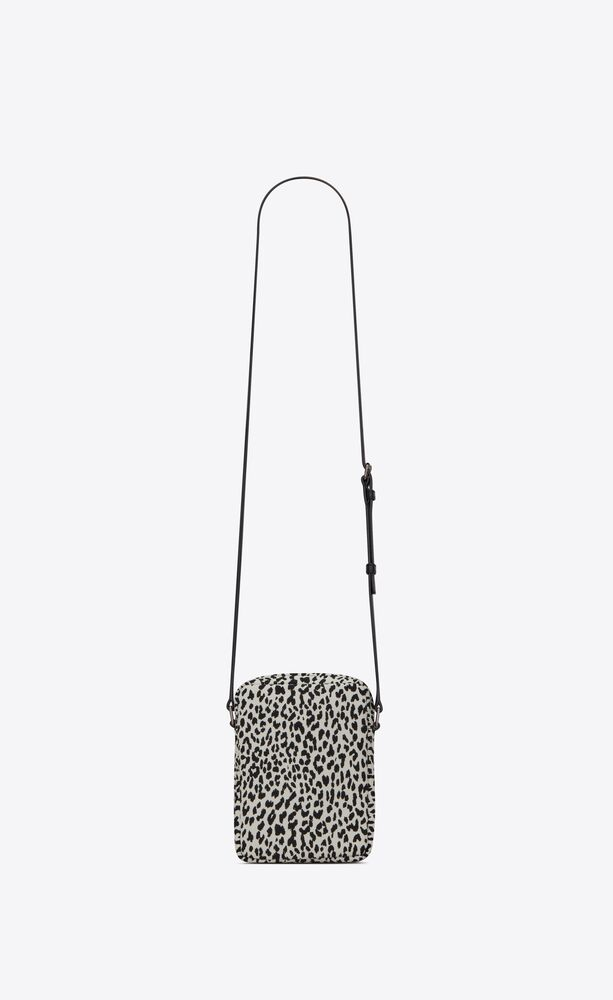 sid pouch in printed canvas