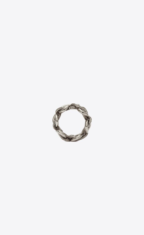 bague nœud marin en métal