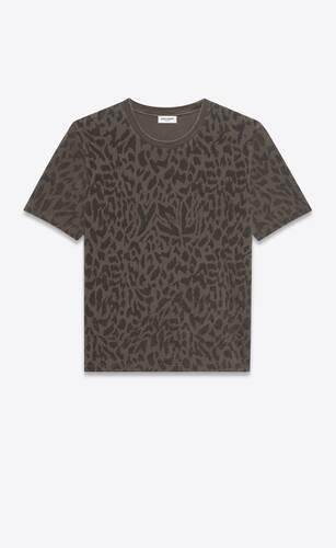 ysl 레오파드 프린트 티셔츠