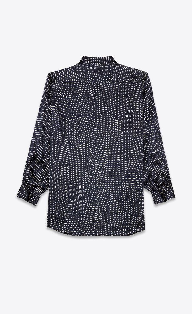 western shirt in dotted silk satin