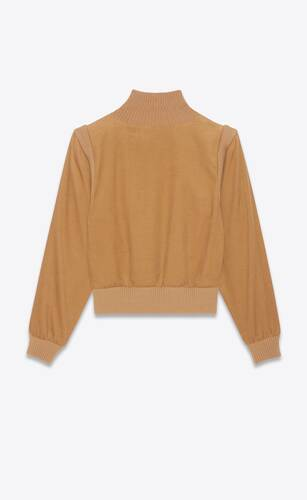corduroy sweater in micro-cord cotton velvet