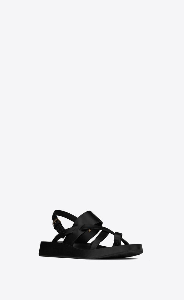 noah sandals in smooth leather